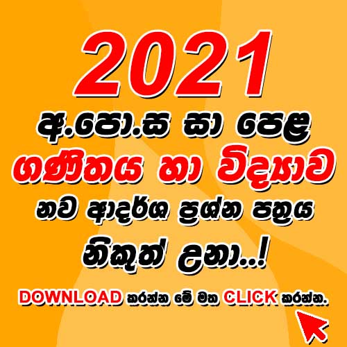 Download Paper 2021 Maths & Science.