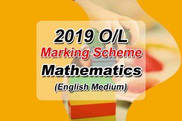 2019 O/L Maths English Medium Marking Scheme
