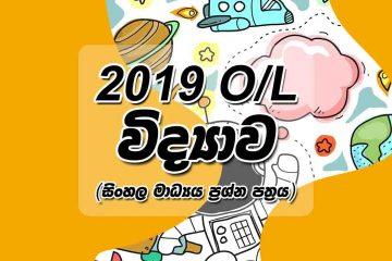 2019 O/L Science Past Paper Sinhala Medium