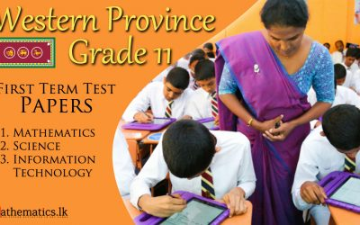 Western Province Grade 11 First Termtest Papers 2019 post